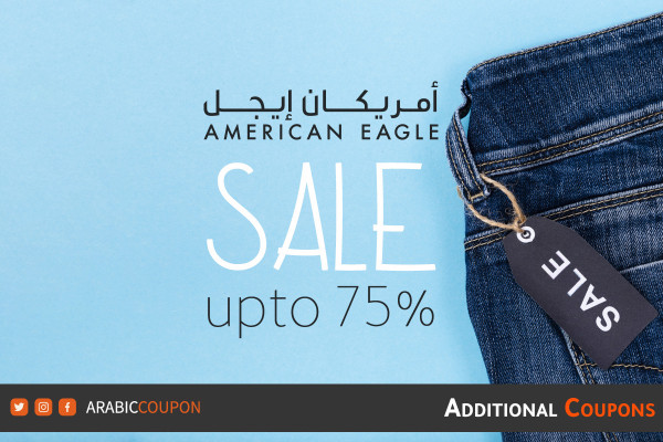 The highest American Eagle SALE launched up to 75% with additional promo code