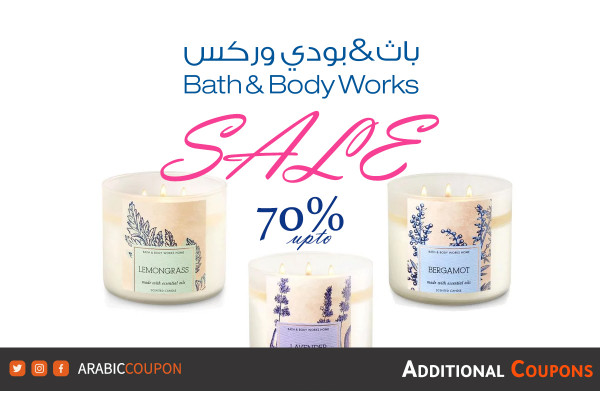 Bath & Body Works SALE up to 70% off with extra Bath and Body Works coupon / promo code