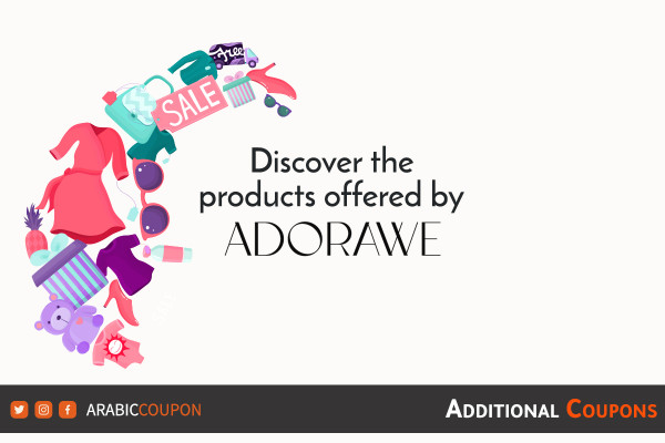 Discover Adorawe products available for online shopping with additional coupons