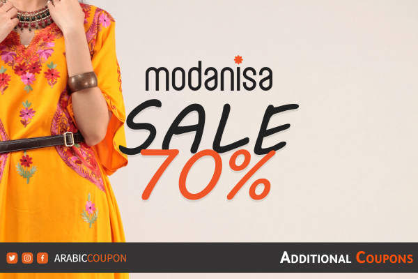 The launch of Modanisa's SALE, 70% of women's fashion with additional coupons & promo code