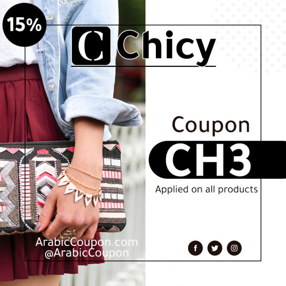 15% Chicy promo code / coupon code active on all purchases (NEW)