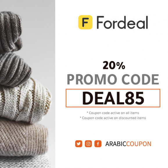 20% Fordeal promo code on all items (100% Active Fordeal coupon)